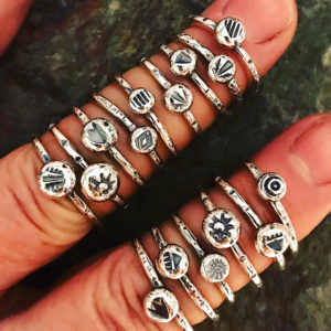 All Stacked Up Sterling Silver Rings @ A Place to Bead | San Marino | California | United States