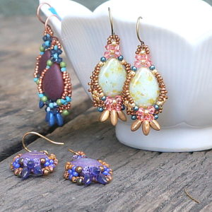 Baskets of Babylon Earrings - Freckled Pear Workshop & Trunk Show @ A Place to Bead | San Marino | California | United States