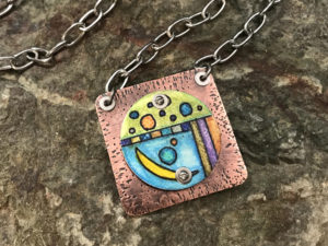 Color Me Beautiful Prismacolor Mixed Media Pendant @ A Place to Bead | San Marino | California | United States