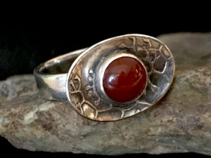 Metal Clay - Cup and Saucer Gemstone Ring @ A Place to Bead | San Marino | California | United States