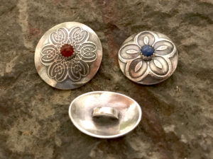 Fancy Schmancy Semi Precious Stone Fine Silver Button Closures @ A Place to Bead | San Marino | California | United States