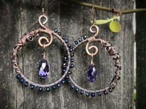 Whorls of Whimsy Earrings @ A Place to Bead | San Marino | California | United States
