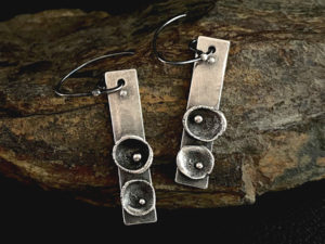 Metal Clay - Limpet Earrings @ A Place to Bead | San Marino | California | United States