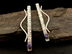 Linear Waves Earrings @ A Place to Bead | San Marino | California | United States