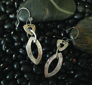 Metal Clay - Linked In Earrings @ A Place to Bead | San Marino | California | United States