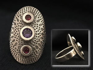 Metal Clay - Medieval Shield Ring @ A Place to Bead | San Marino | California | United States