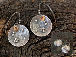Moonscape Earrings @ A Place to Bead | San Marino | California | United States