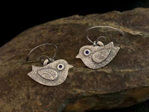 Metal Clay - Spring is in the Air Earrings @ A Place to Bead | San Marino | California | United States
