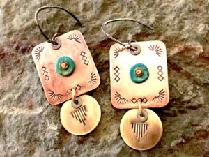 Stamps & Stones Mixed Metal Earrings @ A Place to Bead | San Marino | California | United States