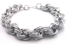 Double Spiral Chain Maille Bracelet @ A Place to Bead | San Marino | California | United States