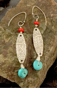 Summer Breeze Fine Silver Earrings @ A Place to Bead | San Marino | California | United States