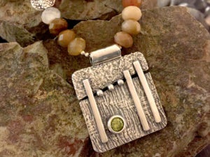 The Great Divide Fine Silver Pendant Necklace @ A Place to Bead | San Marino | California | United States