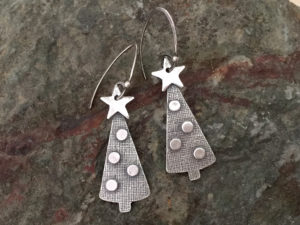 Metal Clay - 'Tis the Season Earrings @ A Place to Bead | San Marino | California | United States