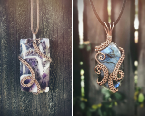 Freeform Wire Weave Pendant @ A Place to Bead | San Marino | California | United States
