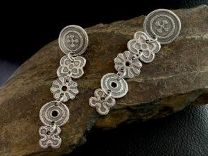 Metal Clay - Waterfall Dangle Post Earrings @ A Place to Bead | San Marino | California | United States