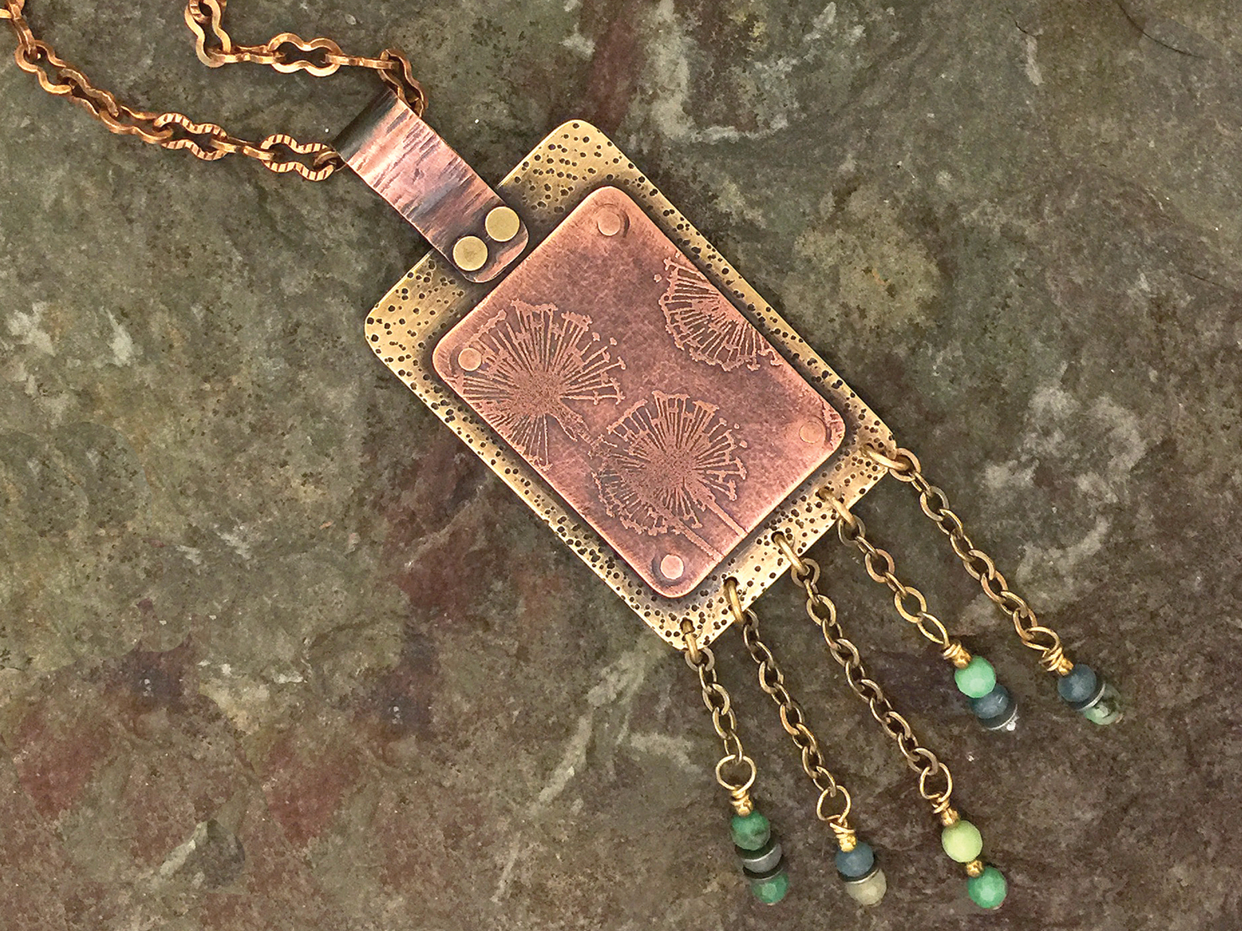 Waterfall etched pendant a place to bead aloadofball Images