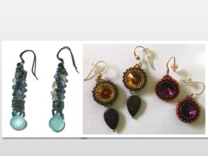 Crystal Twist & Bezel Earrings Double Whammy @ A Place to Bead | San Marino | California | United States