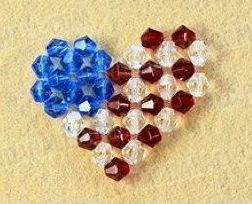 Crystal Heart Flag @ A Place to Bead | San Marino | California | United States