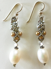 Diamonds and Pearls Earrings @ A Place to Bead | San Marino | California | United States