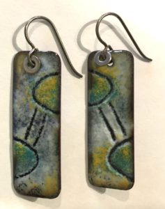 Sgraffito Torch Enameled Earrings @ A Place to Bead | San Marino | California | United States