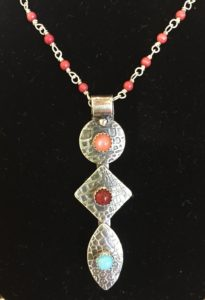 Tryptic Semi-Precious Stone Pendant @ A Place to Bead | San Marino | California | United States