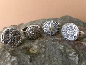 Not Your Mother's Vintage Button Fine Silver Ring @ A Place to Bead | San Marino | California | United States
