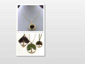 Robin's Nest Pendant & Gemstone Tree Pendant