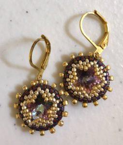 Star Bezel Earrings